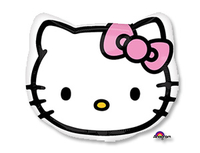 Шар (18''/46 см) Фигура Hello Kitty, голова, 1 шт.